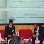 Left: Harris Irfan - Director at European Islamic Investment Bank. Right: Mohammed Amin - Writer and Speaker on Islamic finance